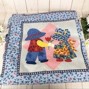 Vintage Sunbonnet Sue + Sam Fabric 4 yds Material